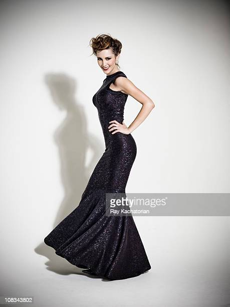 fashion model - evening gown stock pictures, royalty-free photos & images