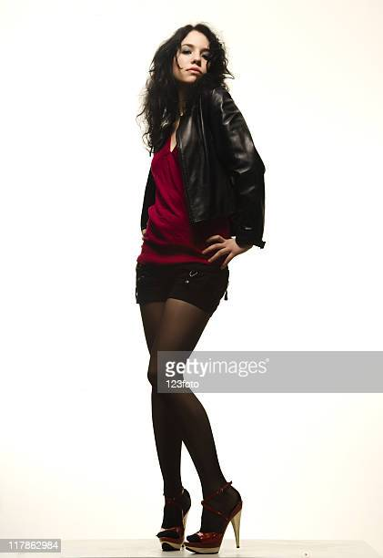 fashion model - black women wearing pantyhose stock pictures, royalty-free photos & images