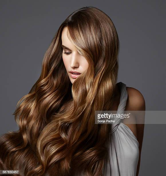 fashion model - wavy hair stock pictures, royalty-free photos & images
