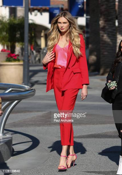 Fashion Model Romee Strijd is seen at Universal City Walk on February 07 2019 in Los Angeles California