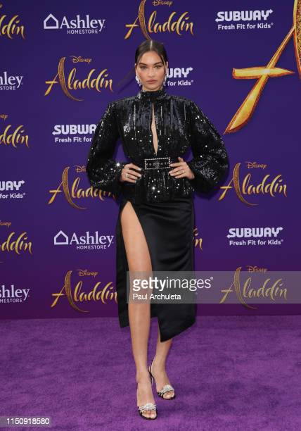 Fashion Model Shanina Shaik attends the premiere of Disney's Aladdin on May 21 2019 in Los Angeles California