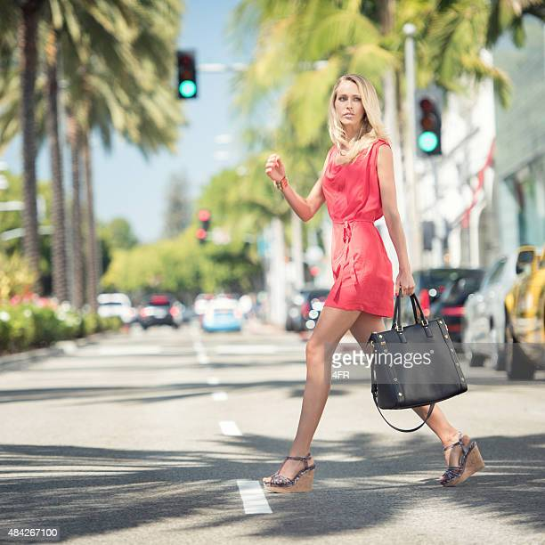 Fashion Model shopping on Rodeo Drive, Los Angeles