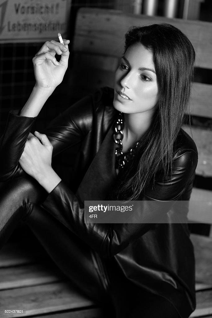 Mature italian actress smoking