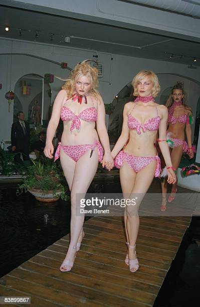 Fashion model Sophie Dahl at an Agent Provocateur fashion show at the Sanctuary in London 6th May 1997