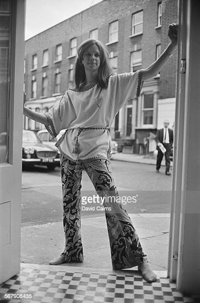 Fashion model Susie Allfrey at the opening of Chelsea socialite Suna Portman's shop London 3rd October 1967