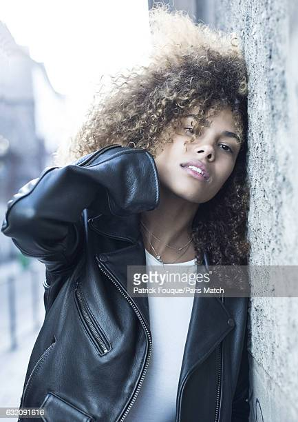 Fashion model Tina Kunakey is photographed for Paris Match on December 14 2016 in Paris France
