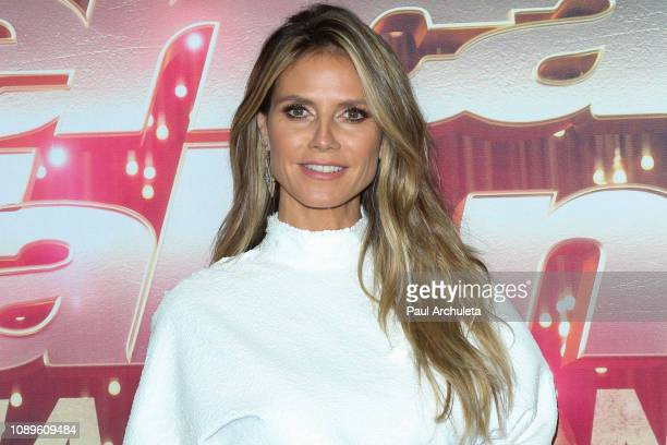 Fashion Model / TV Personality Heidi Klum attends NBC's America's Got Talent The Champions at Sheraton Pasadena Hotel on October 10 2018 in Pasadena...
