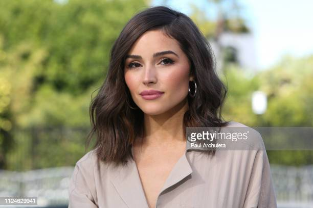 Fashion Model / TV Personality Olivia Culpo visits the set of Extra at Universal Studios Hollywood on January 24 2019 in Universal City California