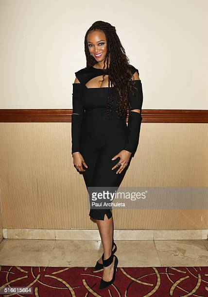 Fashion Model / TV Personality Tyra Banks attends the Simply Stylist 'Do What You Love' a fashion and beauty conference at The Grove on March 19 2016...