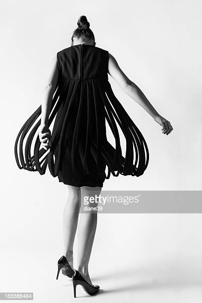 Fashion model twirling