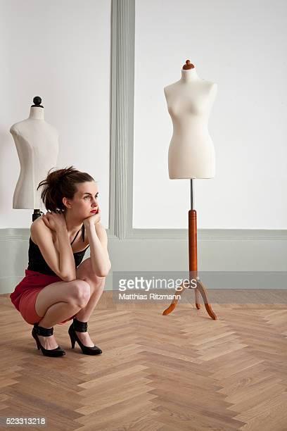 Fashion model waiting