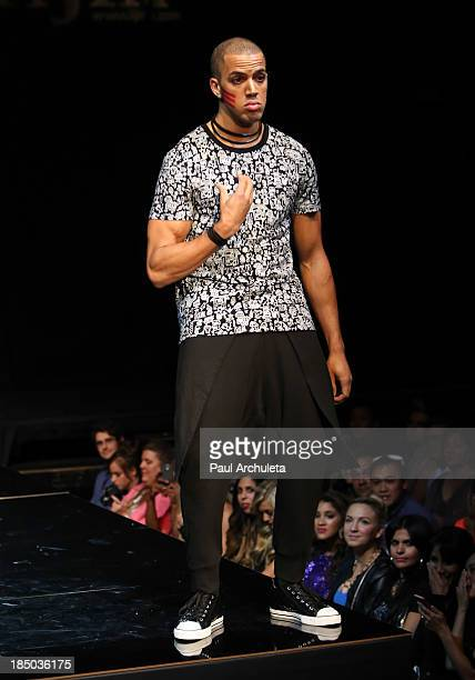 Fashion Model walks the runway at iiJin's spring/summer 2014 'The Glamorous Life' fashion show at Avalon on October 16 2013 in Hollywood California