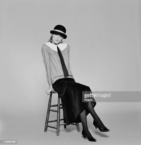 A fashion model wearing Laura Ashley outfit UK 17th September 1983