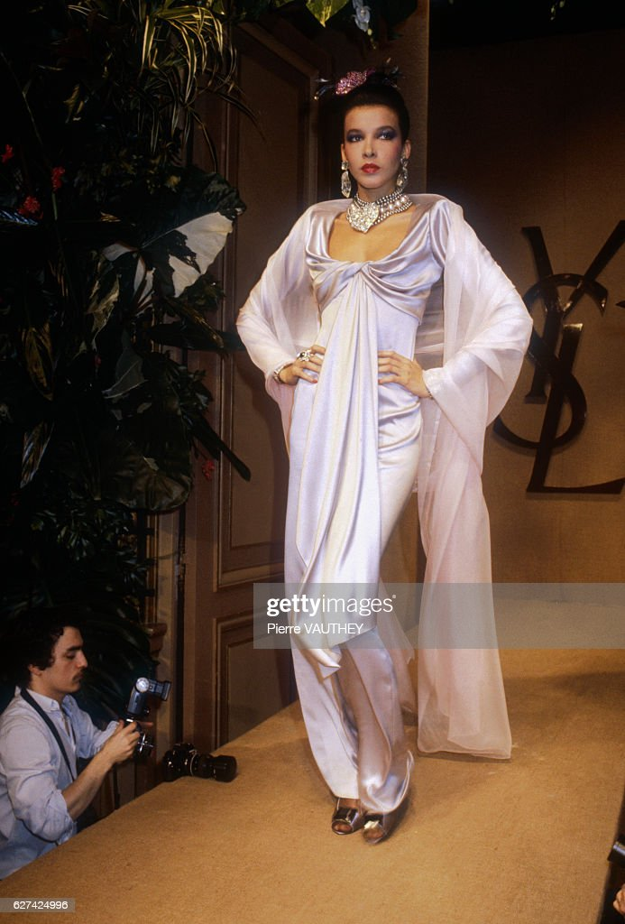 Yves Saint Laurent Spring-Summer 1983 Fashion Show Pictures | Getty ...