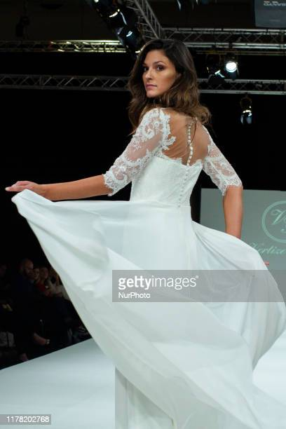 Fashion model with Vertize Gala design, during the bridal fashion Madrid parade the 1001BODAS celbrado in Madrid, Spain on October 25, 2019.