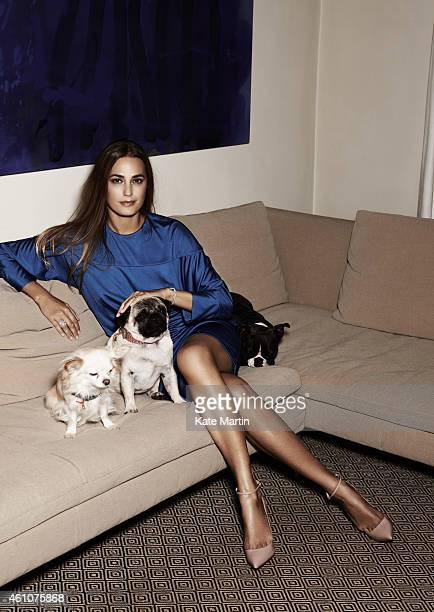 Fashion model Yasmin LeBon is photographed for Country Town House magazine on October 4 2011 in London England