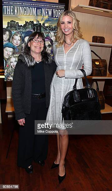 Fashion modelbusinesswoman Ivanka Trump President CEO at Longchamp Marti Carroll attend 'The Kingdom of New York' book launch party at Longchamp on...