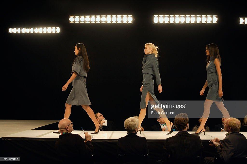 Fashion Models on Runway : Stock Photo