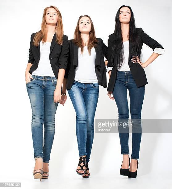 modelos de moda - calças justas - fotografias e filmes do acervo