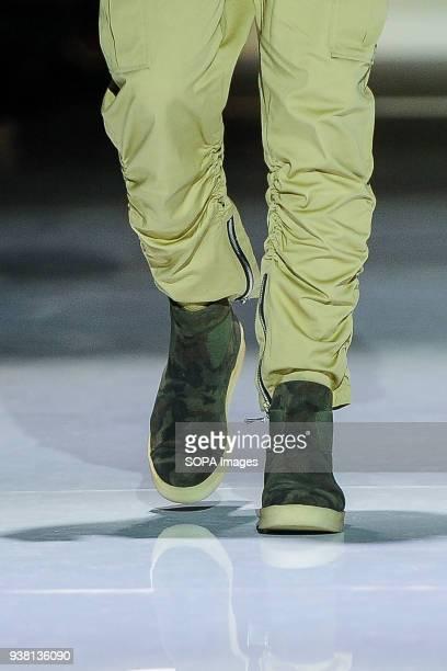 Fashion models represent new Fall/Winter 2018 HIP BONE collection during runway presentation at Toronto Mens Fashion Week 2018