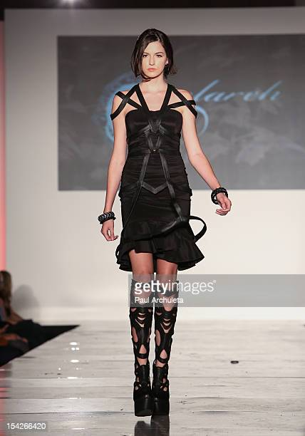Fashion Models walk the runway at 'All AboardLA's Fashion Platform' fashion show at Union Station on October 16 2012 in Los Angeles California
