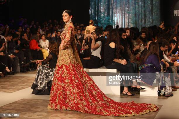 Fashion models walks on the ramp during the 1st day of the PFDC L`Oreal Paris Bridal Week 2017 14 October 2017 Lahore Pakistan Nur photo by Rana Imran
