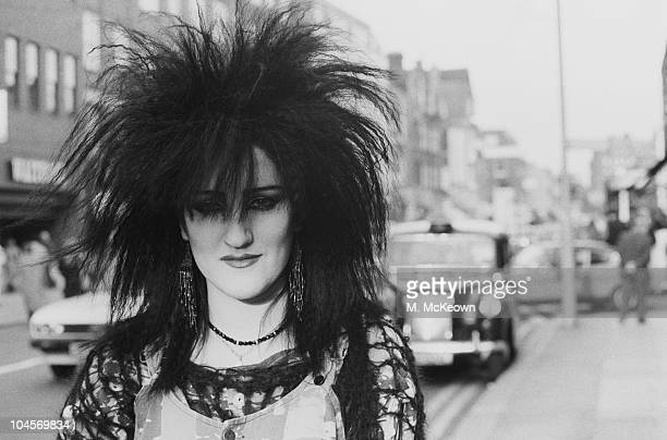 Fashion on the King's Road A punk walking along in Chelsea London in October 1983