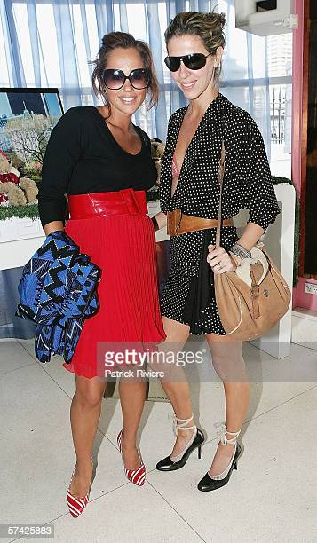 Fashion personality Pip Edwards and fashion designer Heidi Middleton attend the Marie Claire United for Unicef cocktail launch during Mercedes...