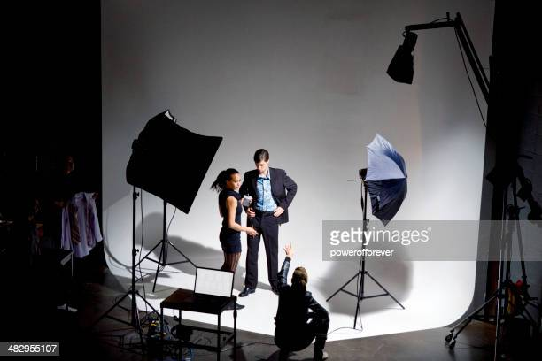 fashion photo shoot - stage set stock pictures, royalty-free photos & images