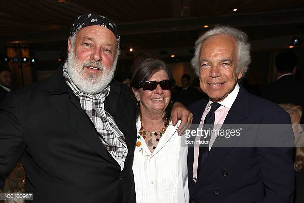 Fashion photographer Bruce Weber filmmaker Nan Bush and designer Ralph Lauren attend the Green Chimneys Annual Spring Gala at Tappan Hill Mansion on...