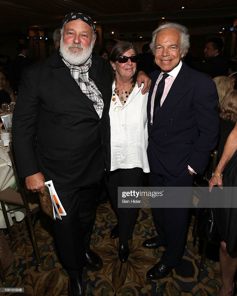 Fashion photographer Bruce Weber, filmmaker Nan Bush and designer Ralph Lauren attend the Green Chimneys Annual Spring Gala at Tappan Hill Mansion on May 20, 2010 in Tarrytown, New York.