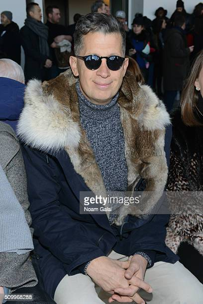 Fashion photographer, Mario Testino, attends the Lacoste Fall 2016 fashion show during New York Fashion Week at Spring Studios on February 13, 2016...