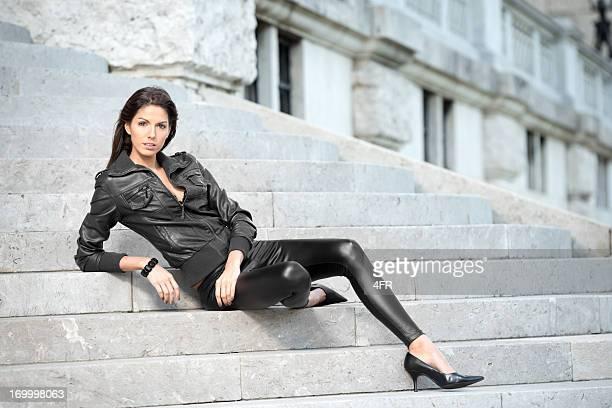 de moda - black pants - fotografias e filmes do acervo