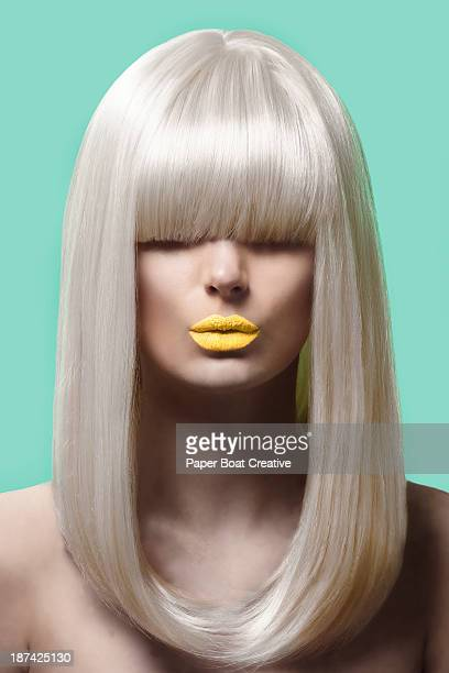 fashion picture of a lady with blonde hair