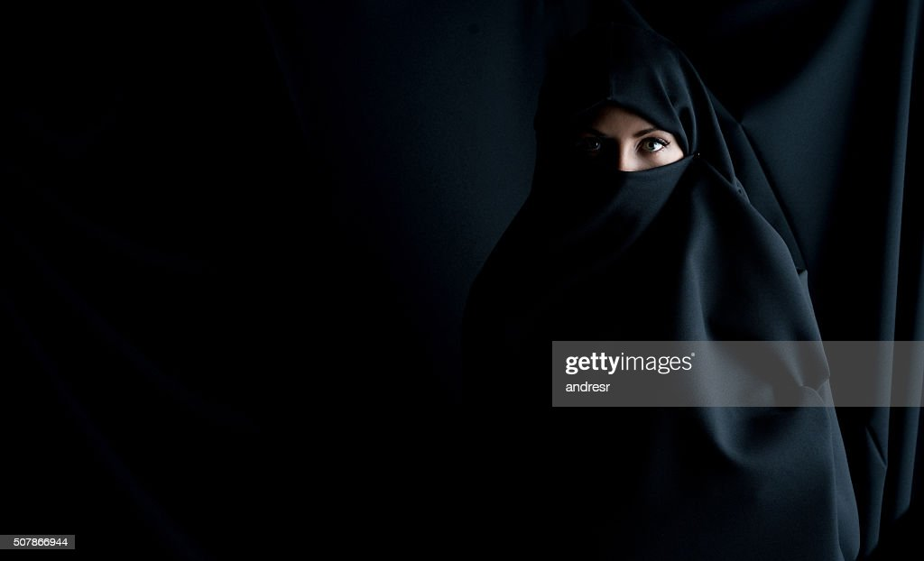 Fashion portrait of a Muslim woman : Stock Photo