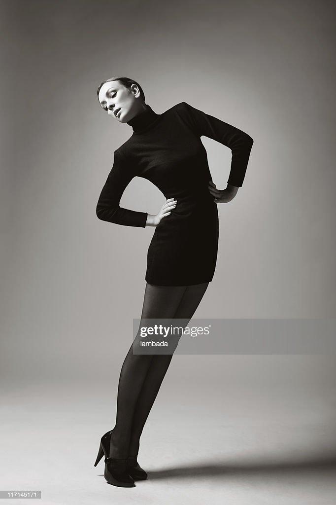 Moda retrato de Mulher bonita : Foto de stock