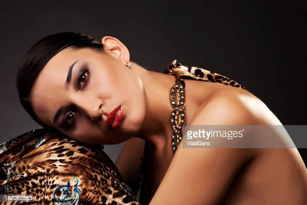 fashion portrait of beautiful woman - vladgans or gansovsky stock pictures, royalty-free photos & images