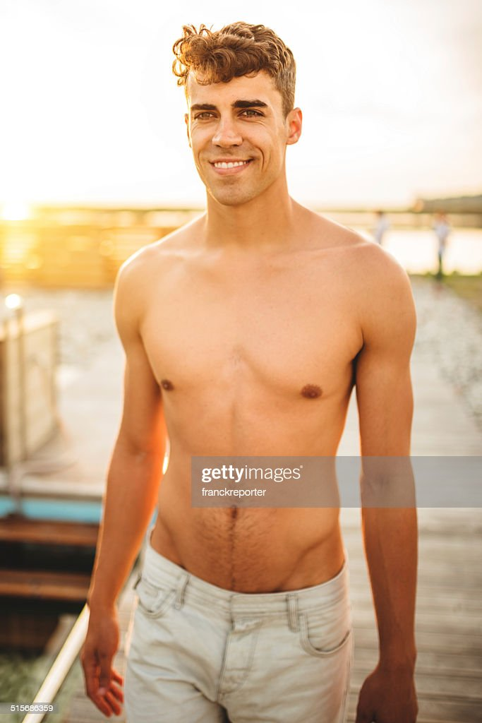 Portrait Young Bodybuilder Man Stock Photo 41421910