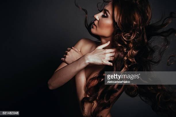 fashion portrait - beautiful women breast stock pictures, royalty-free photos & images