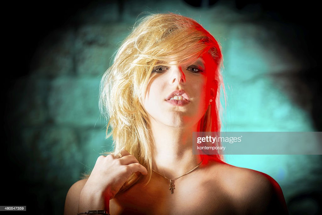 Fashion Portrait Young Woman [80s Retro Glam] : Stock Photo