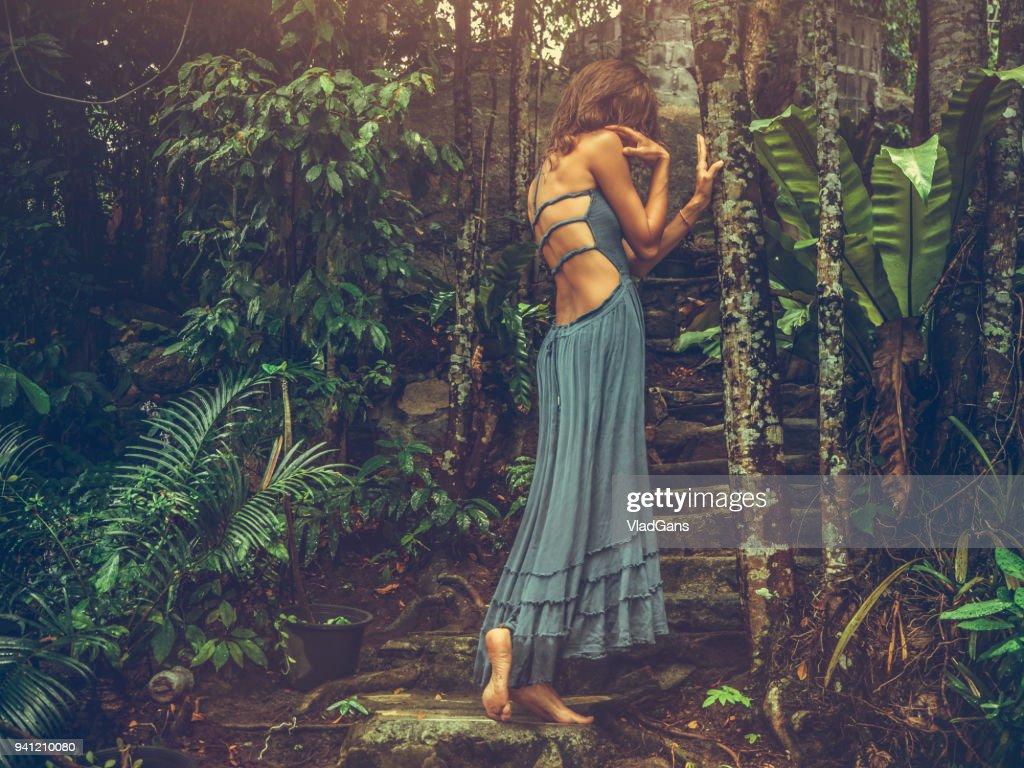 Pose de moda na Tailândia : Foto de stock