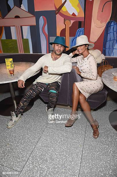 Fashion Publicist Andy Diaz and Designer Alisa Maria attend Housing Works' Fashion for Action 2016 at Freds at Barneys New York Downtown on November...