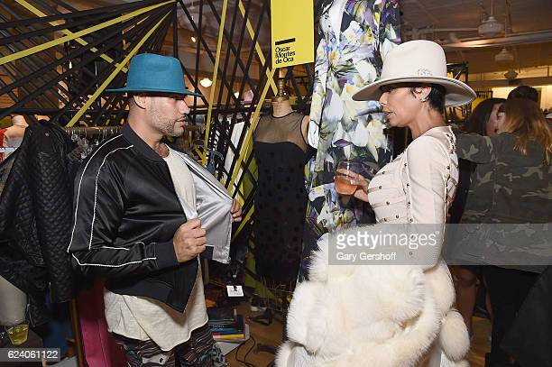Fashion Publicist Andy Diaz and Designer Alisa Maria attend the Housing Works' Fashion for Action 2016 at the Housing Works Chelsea thrift shop on...