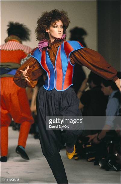 Fashion ready to wear autumn -winter in Paris, France in January, 1983 - Miake.