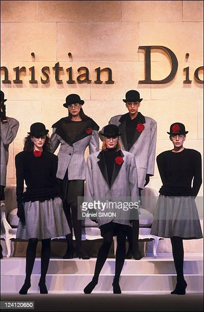 Fashion ready -to -wear Fall -Winter 87 -88 in Paris, France in March 1987 - Dior collection.
