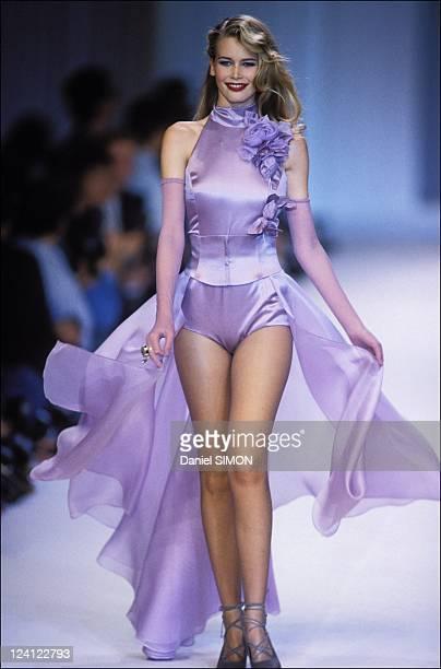 Fashion: ready to wear fall -winter 92 -93 in Paris, France in March, 1992 - Chloe .