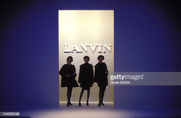 Fashion Ready to Wear Fall Winter 95 96 in Paris France on March 15 1995 Lanvin