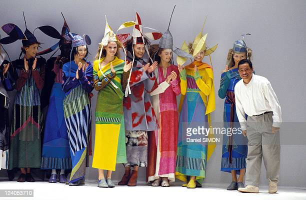 Fashion, Ready to wear, Fall -Winter 97 -98 In Paris, France On March 11, 1997 - Issey Miyake.