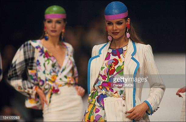 Fashion ready to wear spring summer 1992 in Paris France in October 1991 Emanuel Ungaro