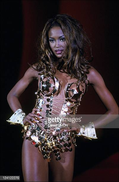 Fashion ready to wear spring summer 1992 in Paris France in October 1991 Thierry Mugler